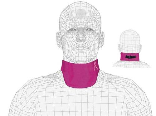 Regular Lead X-Ray Thyroid Collar, Mammography, 0.5mm Pb, Buckle Closure