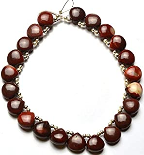 LOVEKUSH 50% Off Gemstone Jewellery 1 Strand Natural 8 inch Natural Gem Mookaite Stone Beads Smooth Heart Shape Briolettes 10 mm Code:- RADE-22825