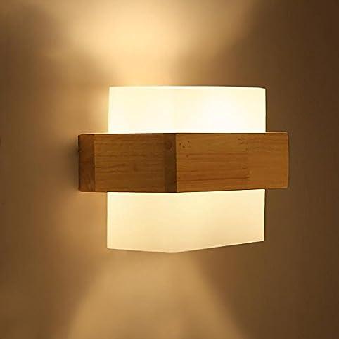 ZQ Kreative Holz Wandleuchte Moderne Einfache Schlafzimmer ...