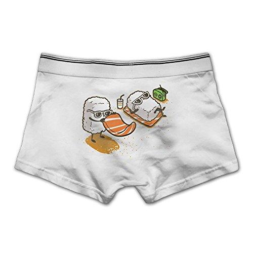 Sushi Maker Costume (Louisa Men's Summer Sushi Boxer Briefs Underwear Modern Cotton Trunk M White)