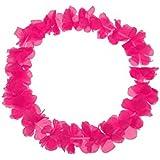 S/O - Lotto di 10 collane hawaiane con fiori rosa, decorative (0460)
