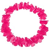 Schramm Onlinehandel Paquet de 30 colliers de fleurs hawaïens monochromes roses