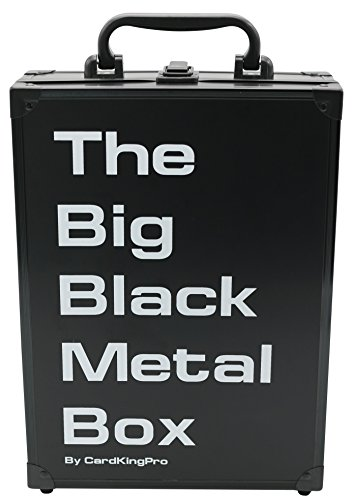 The Big Black Metal Box (PRO Edition) | Case Is Suitable For Cards Against Humanity, Magic The Gathering Etc (Game Not Included) | Includes 8 Dividers | Fits up to 1900 Loose Unsleeved (Pro Poker Set)