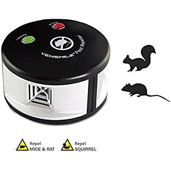 Vensmile Ultrasonic Rodents and Squirrels Repeller Pressure Wave Pest Deterrent Control Chaser Mouse Mice Rats and Insects Indoor Use