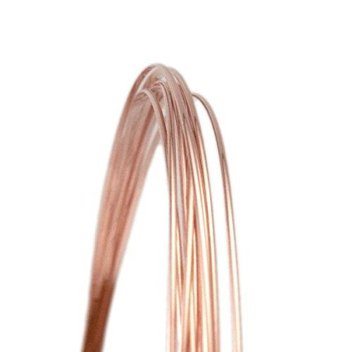 20 Gauge Half Round Half Hard 14/20 Rose Gold Filled Wire - 5FT 20 Rose Gold Filled Wire