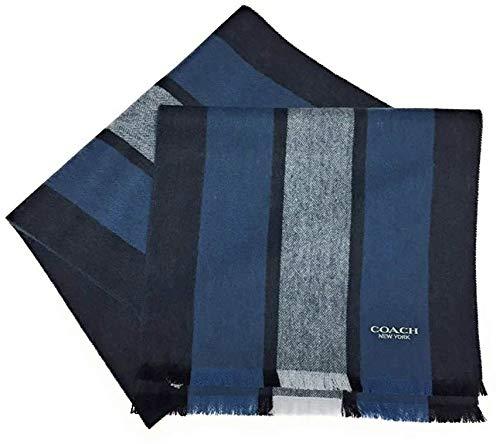 COACH Cashmere Blend Varsity Sport Wool Scarf F86547 ()