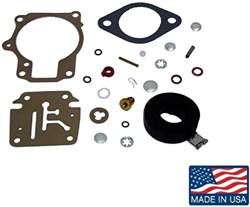 EMP Carb Repair Kit for Johnson Evinrude Carburetor 18 20 25 28 30 40 45 48 50 60 70 75 hp Replaces 18-7222 392061, 396701, 398729 Read Item Description for - 40 Evinrude Hp