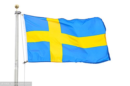 Aimto 3x5 ft Sweden Flag - Bright Colors And Anti-Fading Materials -Swedish Flag Polyester Canvas And Brass Buttonhole - Quality - Glasses Brand Swedish