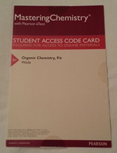 MasteringChemistry with Pearson eText - Valuepack Access Card - for Organic Chemistry