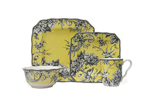 Adelaide Yellow 16 Piece Dinnerware Set Square ()