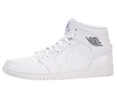 Galleon - Nike Men s Air Jordan 1 Mid White Cool Grey White Basketball Shoe  - 9 D(M) US 34cfe4818