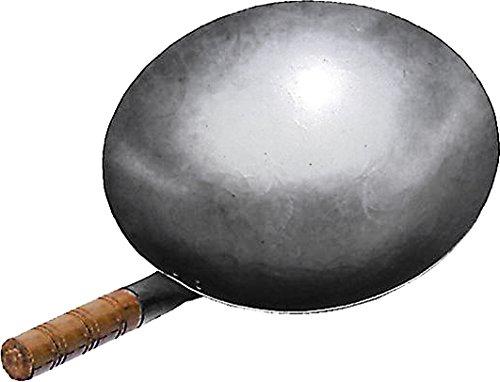 JADE TEMPLE Sartén de Hierro Tipo Wok Color Gris, Hierro, Gris, Durchmesser 30 cm: Amazon.es: Hogar