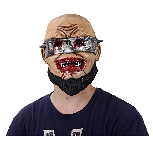 Scary Evil Clown Mask Latex Rubber Mask Blood