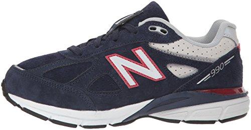 New Balance Boys' 990v4 Sneaker, Blue/Red, 6.5 M US Big Kid by New Balance (Image #5)