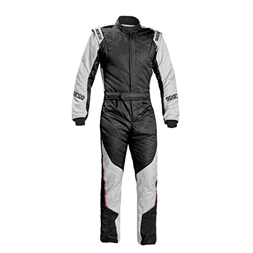 Sparco Energy RS-5 Racing Suit 0011273 (Size: 50, Black/Silver) -