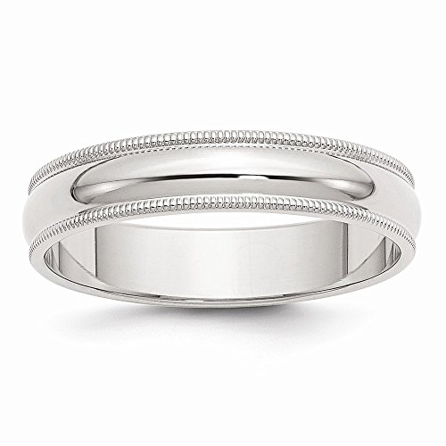 Sterling Silver 5mm Milgrain Band, Best Quality Free Gift Box