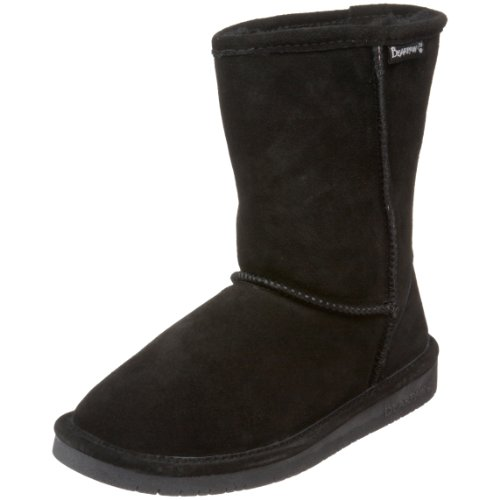 BEARPAW Women's Emma Short Winter Boot, Black, 10 M US -
