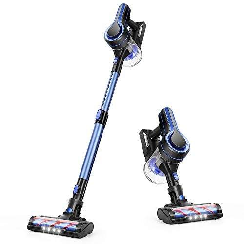 APOSEN Cordless Vacuum Cleaner 18KPa Powerful Suction 250W Brushless Motor 4 in 1 Stick Handheld Vacuum for Home Hard Floor Carpet Car Pet H250 Blue