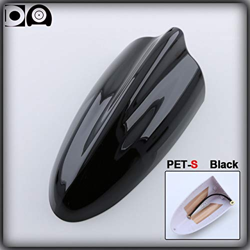 (Aerials Super Shark Fin Antenna Special Car Radio Aerials Abs Plastic Piano Paint Pet-S Pet-L Big Size for Fiat Freemont Accessories - (Color: Black Pet S))