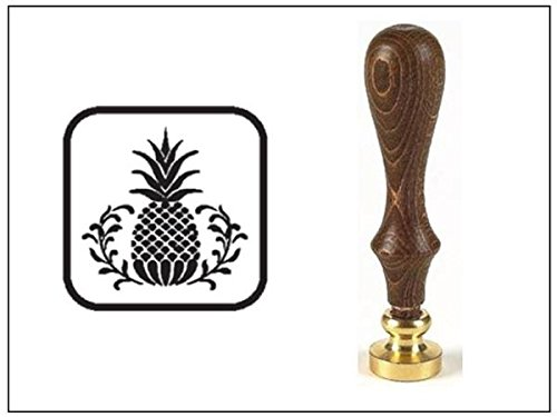 wax-seal-stamp-with-brown-wood-handle-and-round-die-pineapple