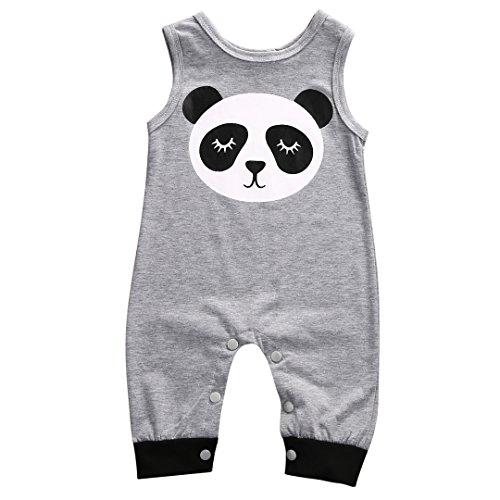 [Cotton Newborn Infant Baby Boy Girl Panda Romper Jumpsuit Summer Sunsuit 0-2Y (0-6 Months)] (Panda Outfits For Babies)