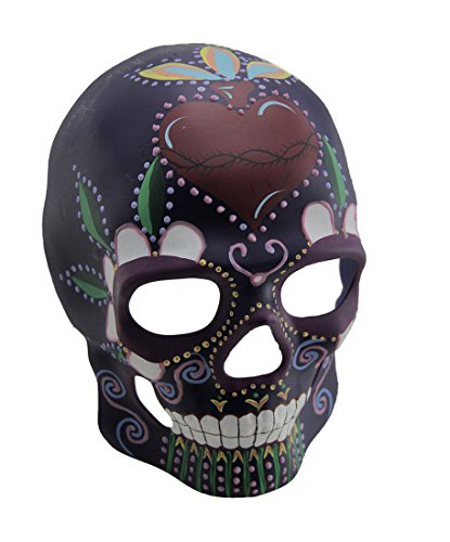 Colorful Glow in The Dark Full Face Sugar Skull Mask