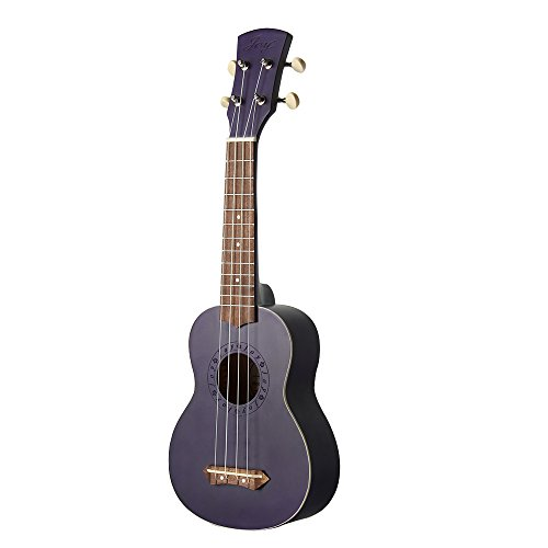 Joy 303 Matte Finished 21 Inch Soprano Ukulele,4 Strings with Walnut Fingerboard and Bridge, for Beginner in Purple Color by Joy