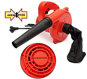 JAKMISTER 600 W, 70 Miles/Hour Electric Air Blower Dust PC Vacuum Cleaner (Standard Size, Red)