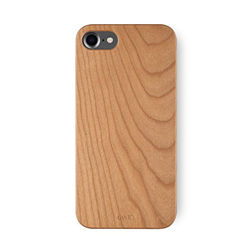 iPhone 8 Case/iPhone 7 Case. [iATO] Real Cherry Wood Bumper Unique, Stylish & Classy Wooden Premium Protective Accessory Snap-on Back Case for iPhone 8 / Case for iPhone 7 (4.7'' Display) by iATO