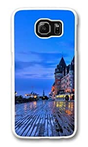 Chateau Frontenac Quebec Custom Samsung Galaxy S6/Samsung S6 Case Cover Polycarbonate White