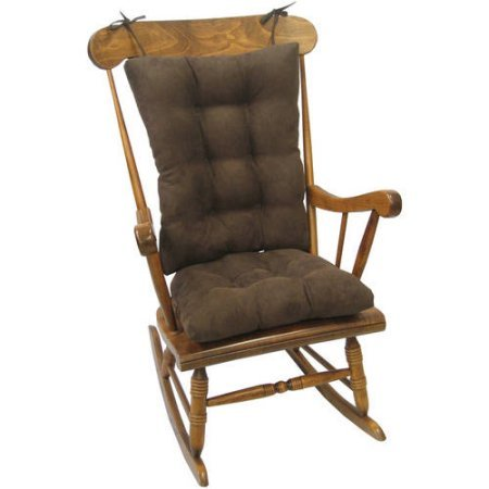 Klear Vu Gripper Twill Jumbo Rocking Chair Cushion (Chocolate)