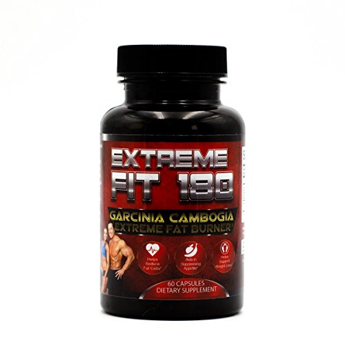 Extreme Fit 180 - Garcinia Cambogia Extreme Fat Burner-60% HCA, Pure Garcinia Cambogia Extract - Extra Strength - Carb Blocker & Appetite Suppressant - All Natural Diet Pills for Women & Men by Extreme Fit 180