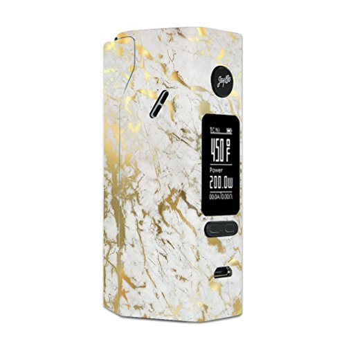 Skin Decal Vinyl Wrap for Wismec Reuleaux RX 2/3 Vape Mod Skins Stickers Cover/Marble White Gold Flake Granite from itsaskin
