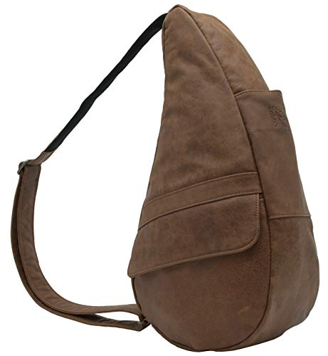 AmeriBag Classic Healthy Back Bag Tote Leather Small (Distressed Brown)