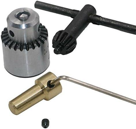 Micro moteur laiton Perceuse Mandrins Outils Pince 0.3-4mm avec clé 3.17 mm Mini Arbre