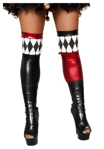 Sexy Harlequin Joker Costumes (Jester Hottie Stockings Adult Costume Accessory - One Size)
