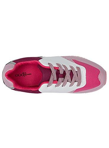 Zapatillas 1083b de Rojo Mujer Combinados Multicolores Materiales Ultra Oodji wT7qxBEw