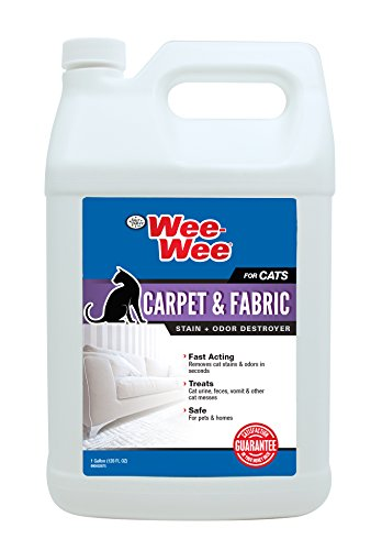 Four Paws Wee-Wee Cat Carpet & Fabric Stain & Odor Destroyer, 128 oz