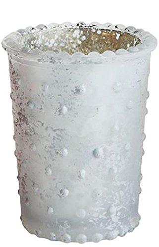 Hobnail Mercury Glass Tealight or Votive Holder (White) ()