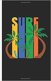 Surf - Taccuino: Quaderno con motivo surfista a scacchi | Dimensione 5