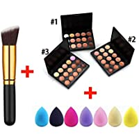 Makalar 15-Colors Concealer Palette Facial Cream Makeup Brush Drop Puff Set