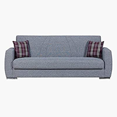 timeless design bb32f 2b896 Home Box Dahlia Sofa Bed With Storage+2 Cushions-Light Grey ...