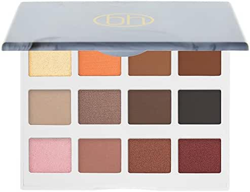 BH Cosmetics Marble Collection Warm Stone 12 Color Eyeshadow Palette, 0.33 Pound