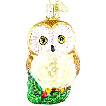 Amazon.com: Old World Christmas Great White Owl Glass Blown ...