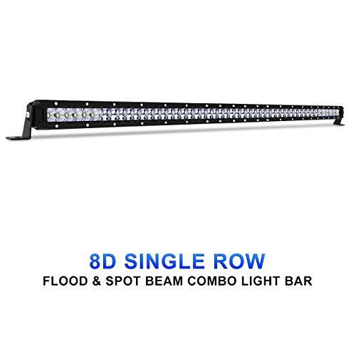 (Rigidhorse LED Light Bar 52 Inch 300W Single Row Flood & Spot Beam Combo 50000LM Off Road LED Light Bar Driving Light for Jeep Pickup SUV ATV UTV Truck Roof Bumper, 2 Years Warranty)