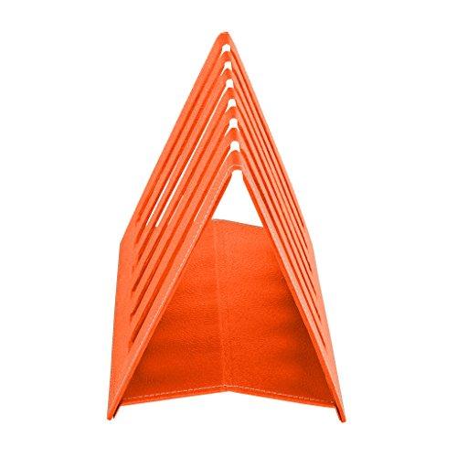 Eco Friendly Ecoleatherette Handcrafted Magazine Holder Magaizne Enchanting Orange Magazine Holder