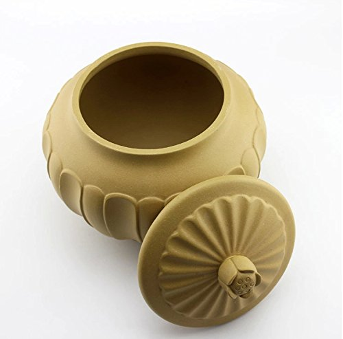 Chinese Yixing Zisha Kungfu Teapot Tea Pot Canister Tea Jar Holder Container Home Decor Lotus by Generic Tea