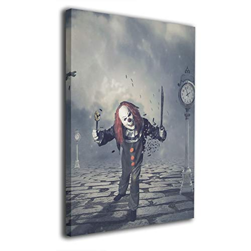 Baerg Evil Clowns Frameless Decorative Painting Wall Art for Home and Office Decorations ()