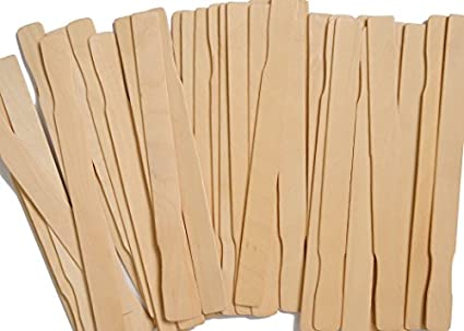 """Perfect Stix 12/"""" Wooden Paint Paddle Stirrer Sticks Length Pack of 100"""