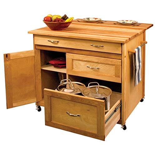 - Catskill Craftsman Deep Drawer Hardwood Kitchen Island